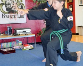 Martial arts training emphasizes discipline as well as self-defense