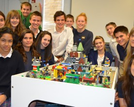 Freshman Latin class builds lego colony