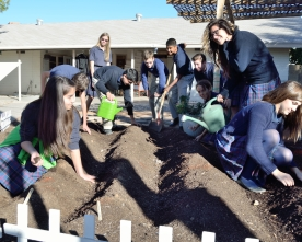 9th graders labor to bring TPA's  long-neglected garden to life
