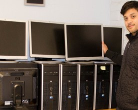 Donated equipment will be used in new computer lab
