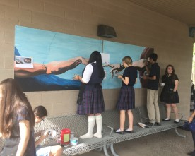 Art Club recreates Michelangelo's 'Creation of Adam'