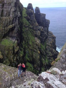 "Caden hiking in Ireland with his ""brother."""