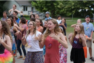 Clara Moffitt enjoys a cultural activity at Concordia Language Camp in Minnesota.