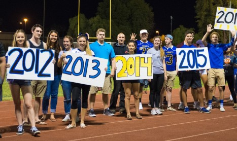 Former Knights help celebrate Homecoming in tough season