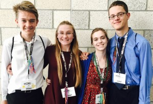 From left, Alex Wait, Abbi Harb, Charlotte McIntosh and Peter Surin.