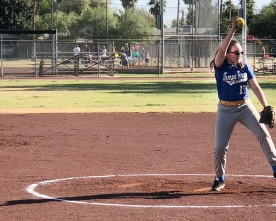 Inexperienced middle school softball players improving